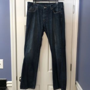Mens Lucky Brand Jeans 34 Button Fly 221 Straight